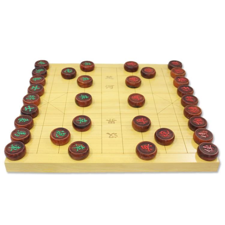 酸枝木象棋套装 5分酸枝木象棋+3CM榧木象棋盘 棋盒免费升级木盒