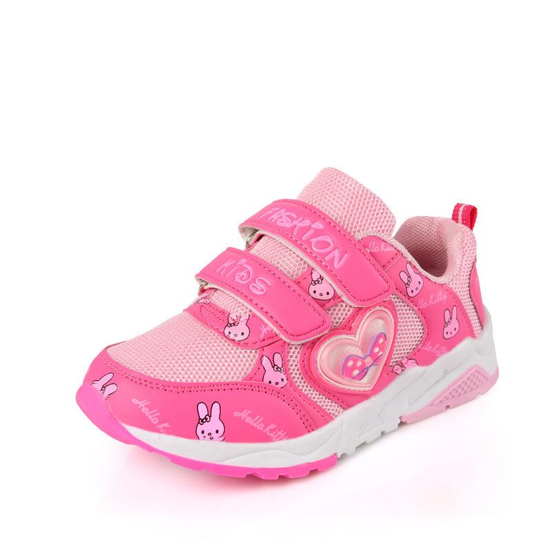 女童鞋春款新品网面休闲鞋春秋轻便防滑跑步鞋网鞋儿童运动鞋