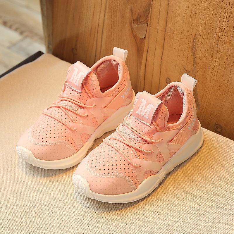 夏季新款女童透气运动鞋时尚休闲鞋韩版学生鞋儿童休闲鞋