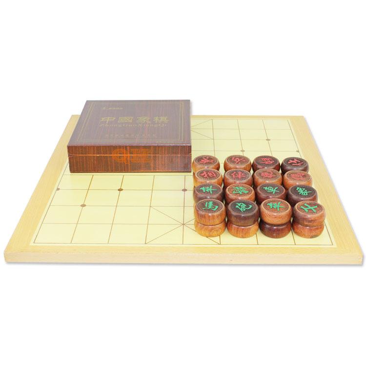 超值套装 中国象棋 5分花梨木象棋套装 红木象棋 配拼格象棋