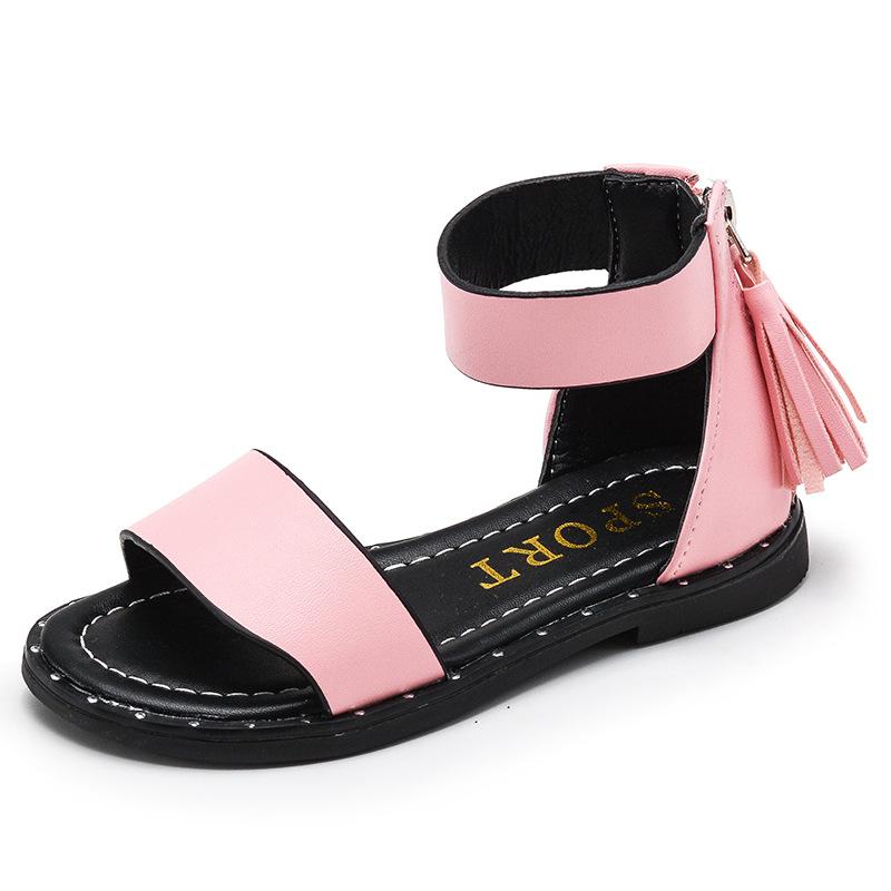 批发新品儿童凉鞋新款夏季中大女童鞋韩版公主鞋学生罗马鞋