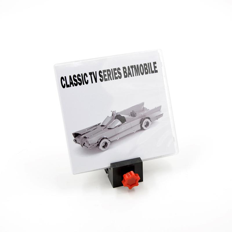 PP盒 金属DIY拼装模型3D立体拼图 蝙蝠侠 TV版蝙蝠车 英文版