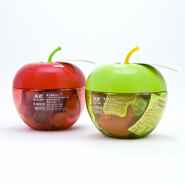 真彩 橡皮泥苹果彩泥 12色 单罐装橡皮泥 卡通【办公用品A仓满29包邮】