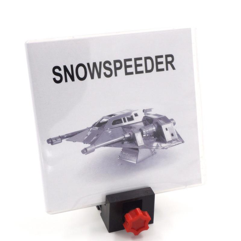 PP盒 金属DIY拼装模型3D免胶纳米拼图 星球大战 雪地飞车 英文版