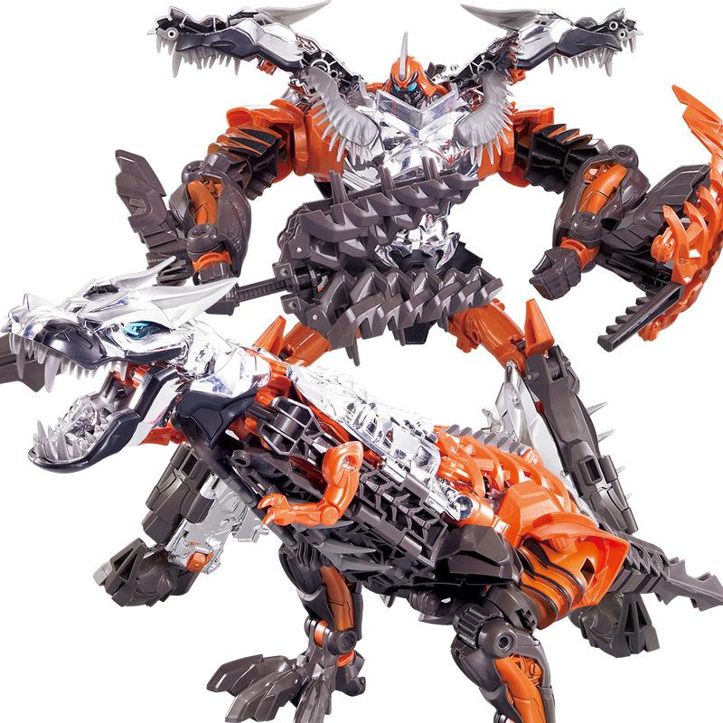 恐龙变形玩具金刚4钢锁钢索霸王龙机器人恐龙男孩儿童玩具礼物