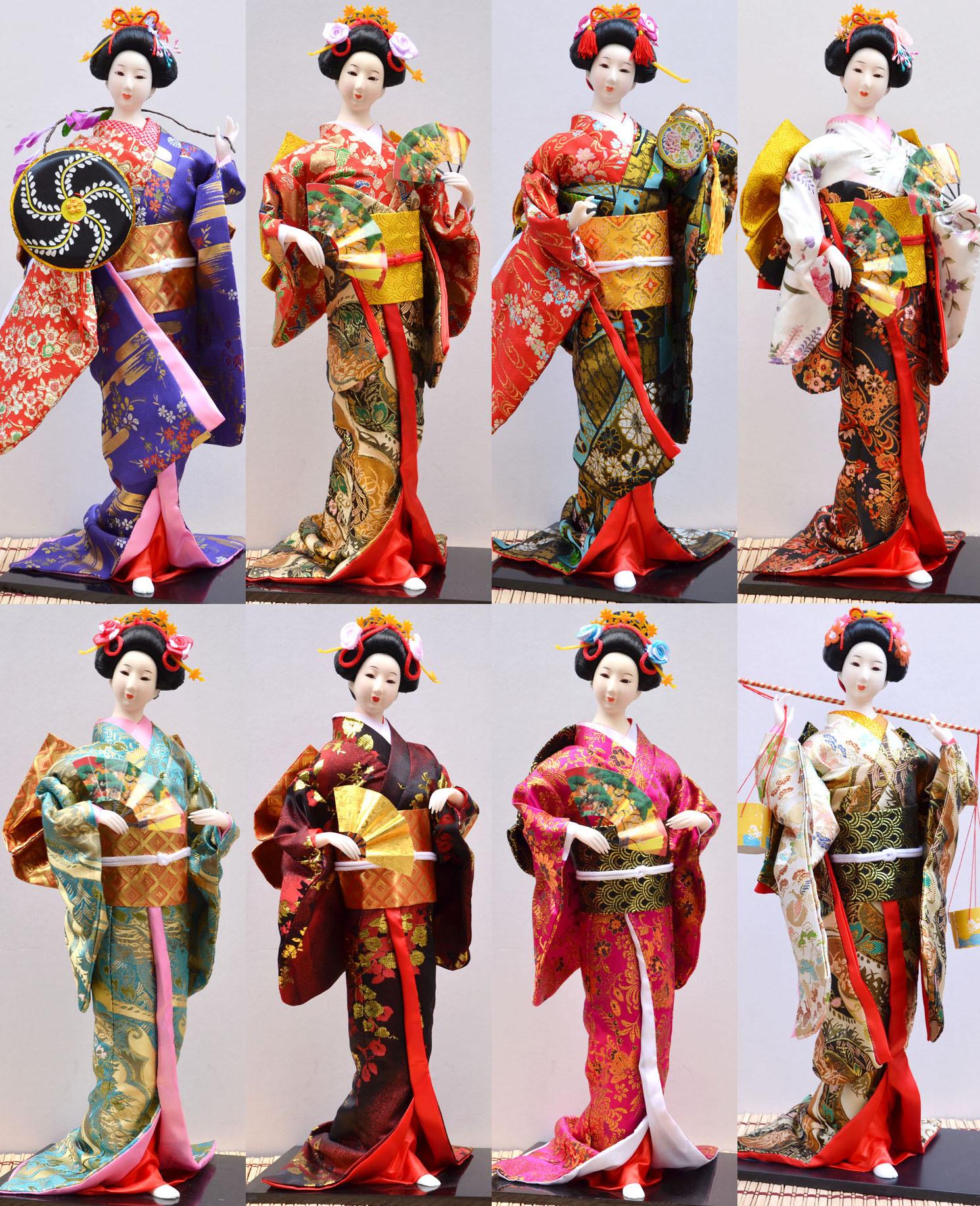 55CM日本人偶娃娃艺妓歌舞伎摆件酒店装饰品手工民间工艺品批发