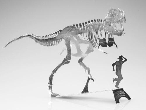 钢魔像 全金属DIY拼装模型 侏罗纪公园恐龙暴龙霸王龙骨架 不锈钢
