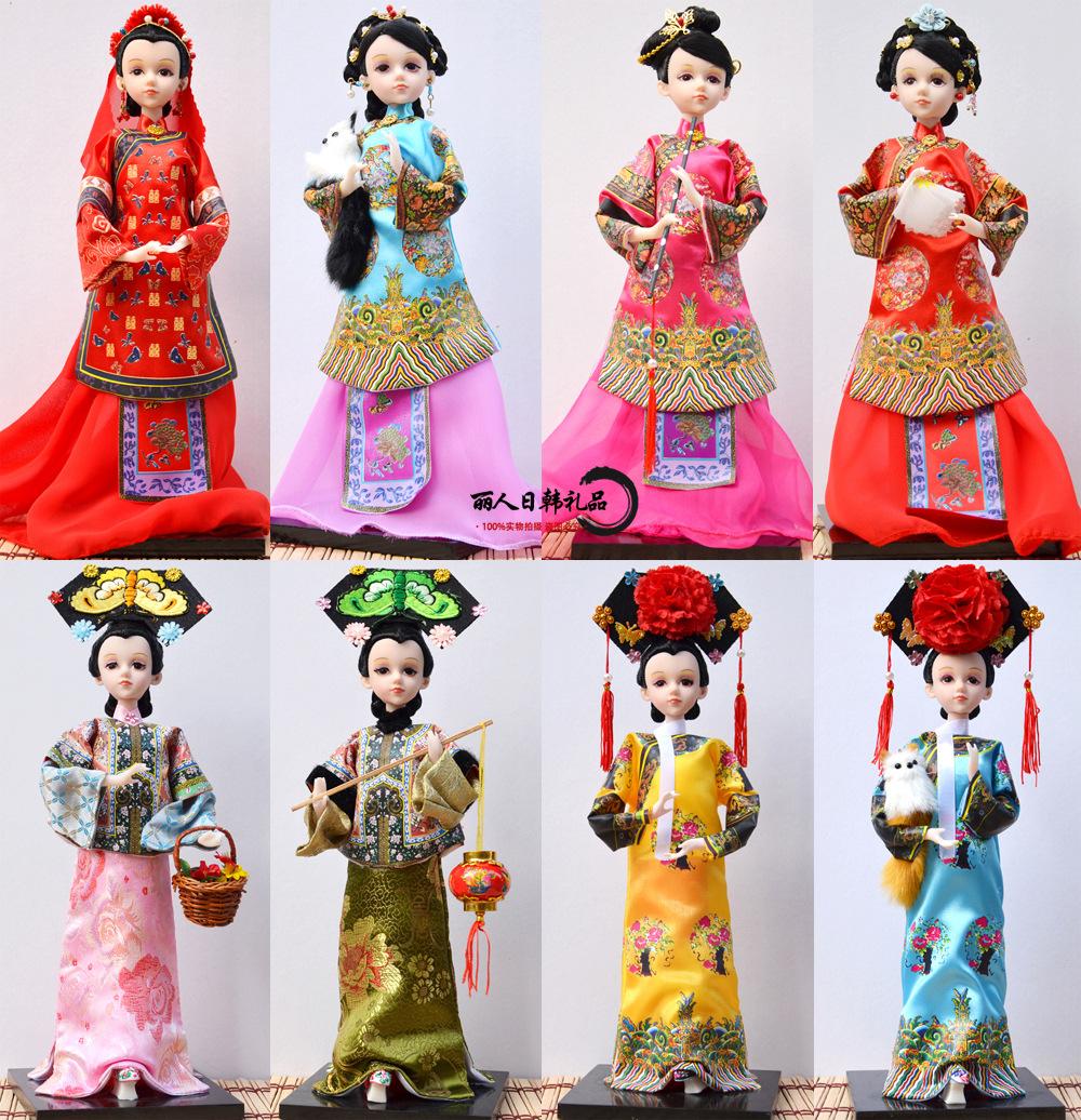 中国民间工艺品古装娃娃格格家居摆件创意女生礼品景点纪念品批发