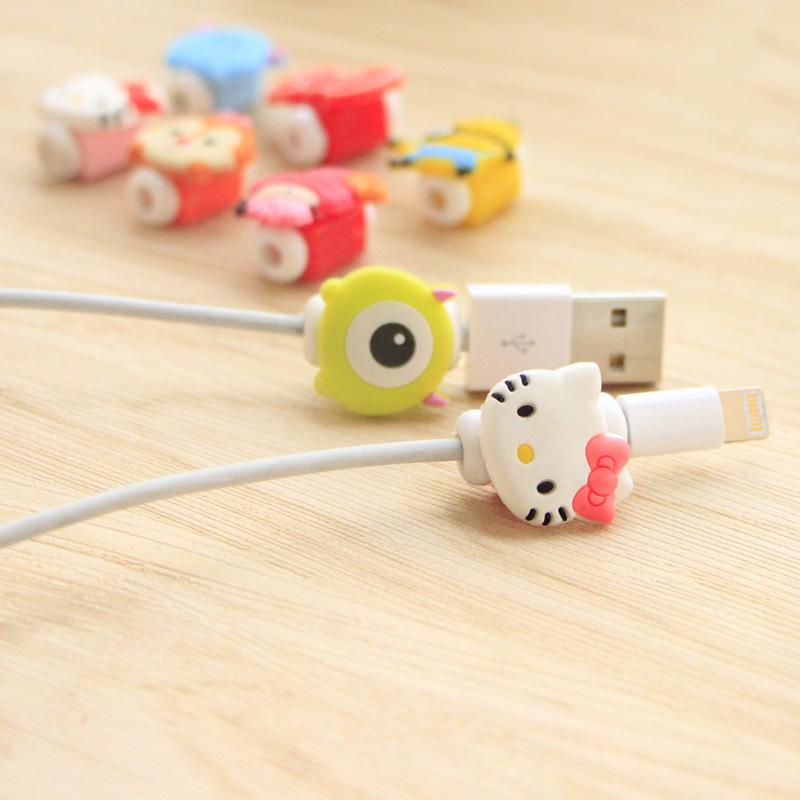 手机数据线保护套 韩国创意耳机充电线防断裂卡通保护器绕线器【创意文具A仓满29包邮】