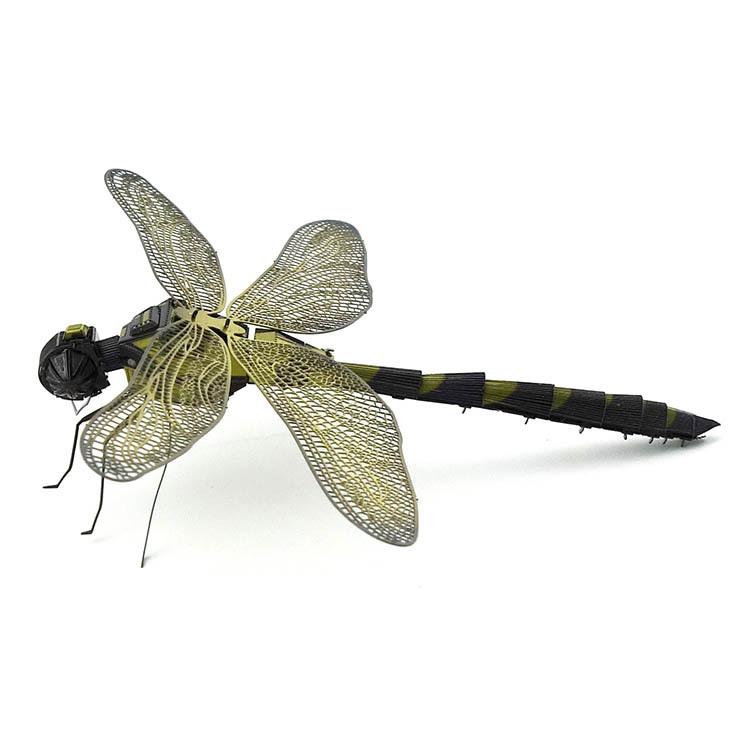 爱拼 全金属不锈钢DIY拼装模型3D免胶立体拼图 彩色蜻蜓 新品