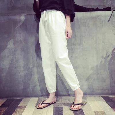 新款韩版夏季九分裤小脚运动裤女收口哈伦裤宽松休闲裤女批发