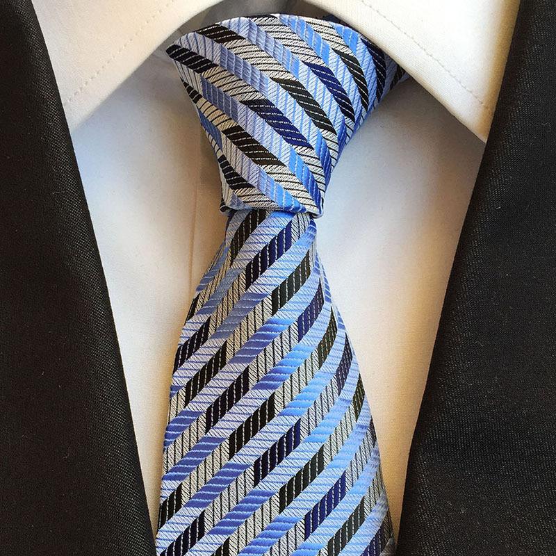 实力商家现货供应8cm涤纶时尚大气条纹男士领带,商务领带