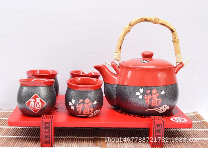 批发日本茶壶日式和风陶瓷礼品 茶具套装 结婚礼物礼品
