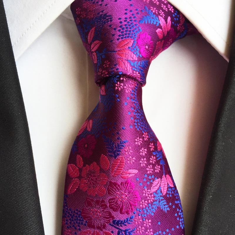 新款佩斯利涤纶男士大花领带新潮社交 西装男士领带