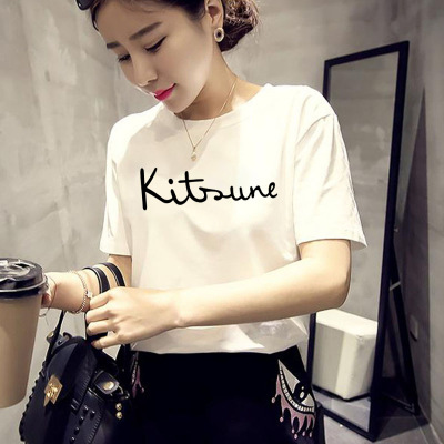 女装短袖T恤夏季新款韩版大码女装宽松百搭女上衣短袖