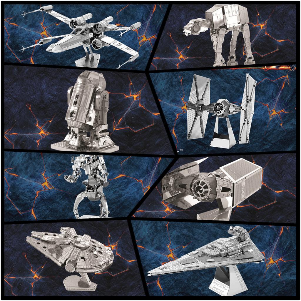 素纸袋 全金属DIY拼装模型3D立体拼图 星球大战系列 英文版 混批