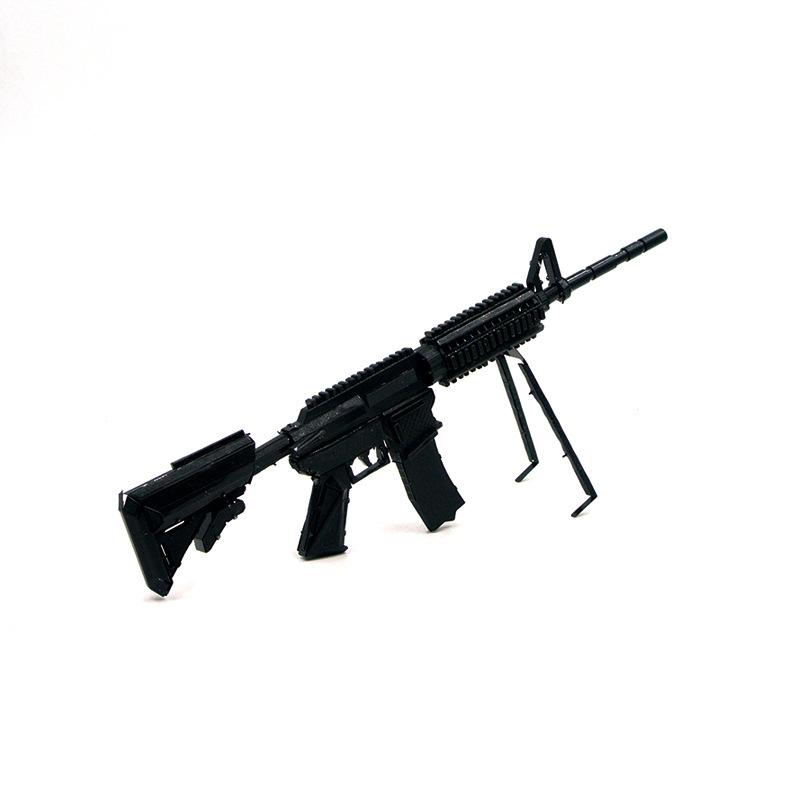 立体金属拼装M4A8卡宾枪军事模型diy益智拼图玩具创意手工摆件