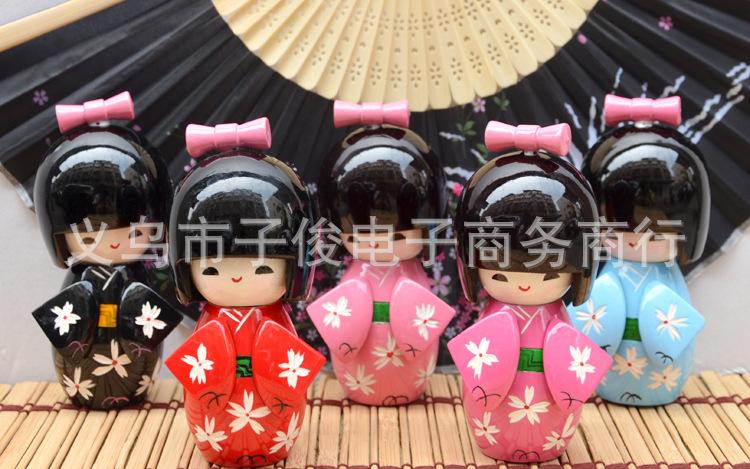 日式民间工艺品和服娃娃木偶礼品摆件料理店装饰礼品淘宝