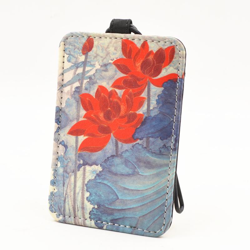 创意行李箱卡通挂牌故宫淘宝登机牌丝绸行李牌 吊牌出国旅游必备