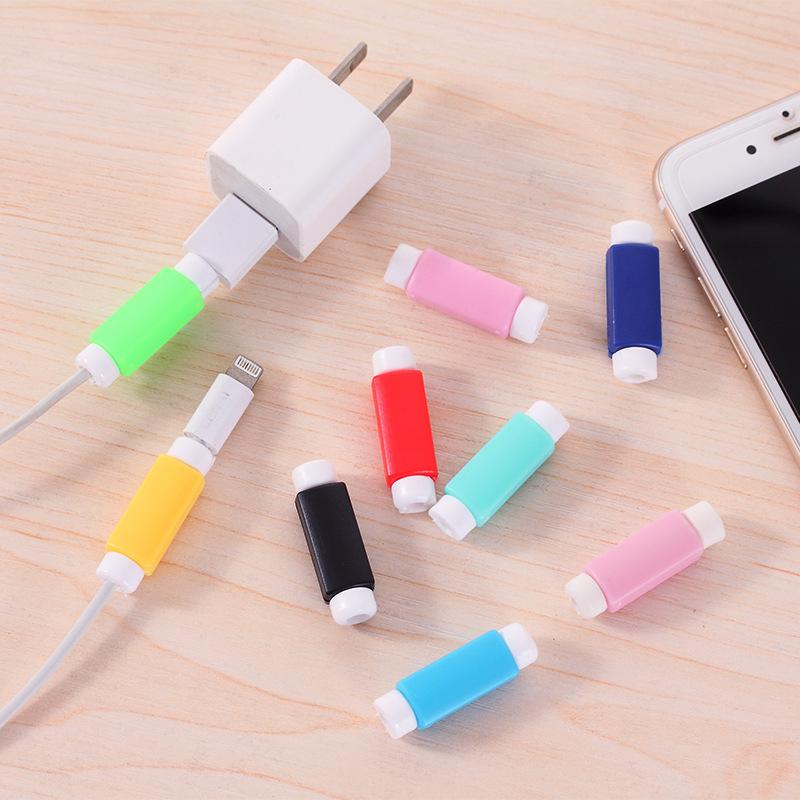 创意手机耳机线保护套糖果色耳机收纳收线绕线器数据线保护套【创意文具A仓满29包邮】