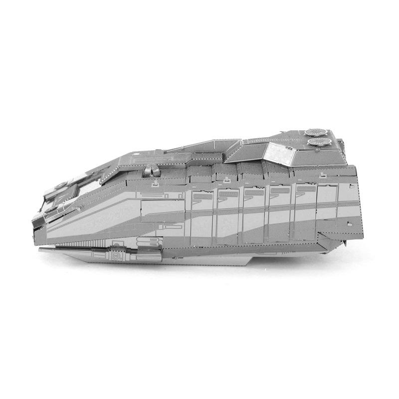 爱拼 全金属不锈钢DIY拼装模型3D免胶 星球大战 1000星际飞行者