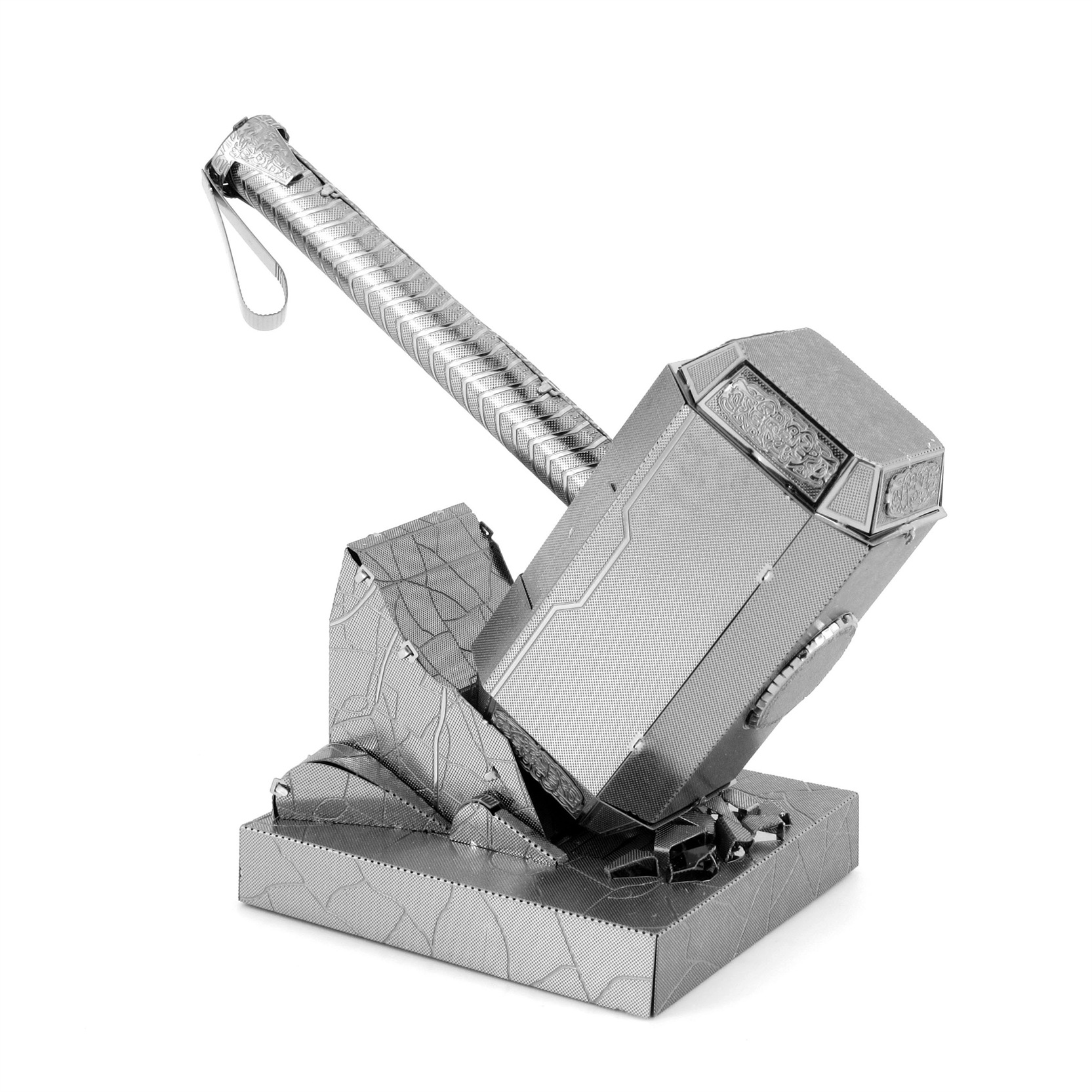 爱拼 金属diy拼装模型3D立体拼图 复仇者联盟 雷神之锤
