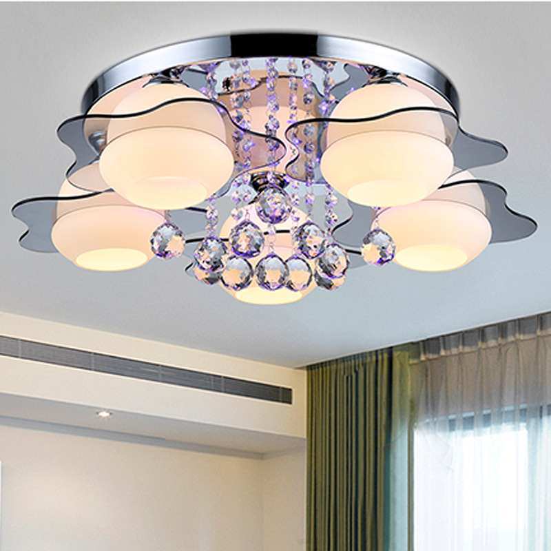 新款热销  圆形水晶灯现代  大气客厅灯主卧室灯浪漫温馨单灯