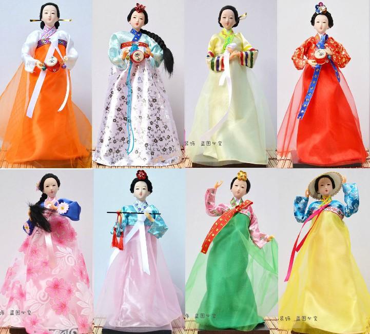 韩国民俗工艺品人偶特色韩式料理店装饰手工娟人摆件淘宝