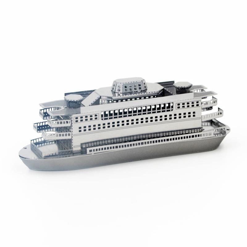 全金属DIY拼装模型3D免胶纳米立体拼图 舰艇