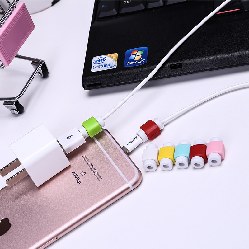 苹果手机iphone5s/6plus用数据线保护套充电线防断裂保护器绕线器【创意文具A仓满29包邮】