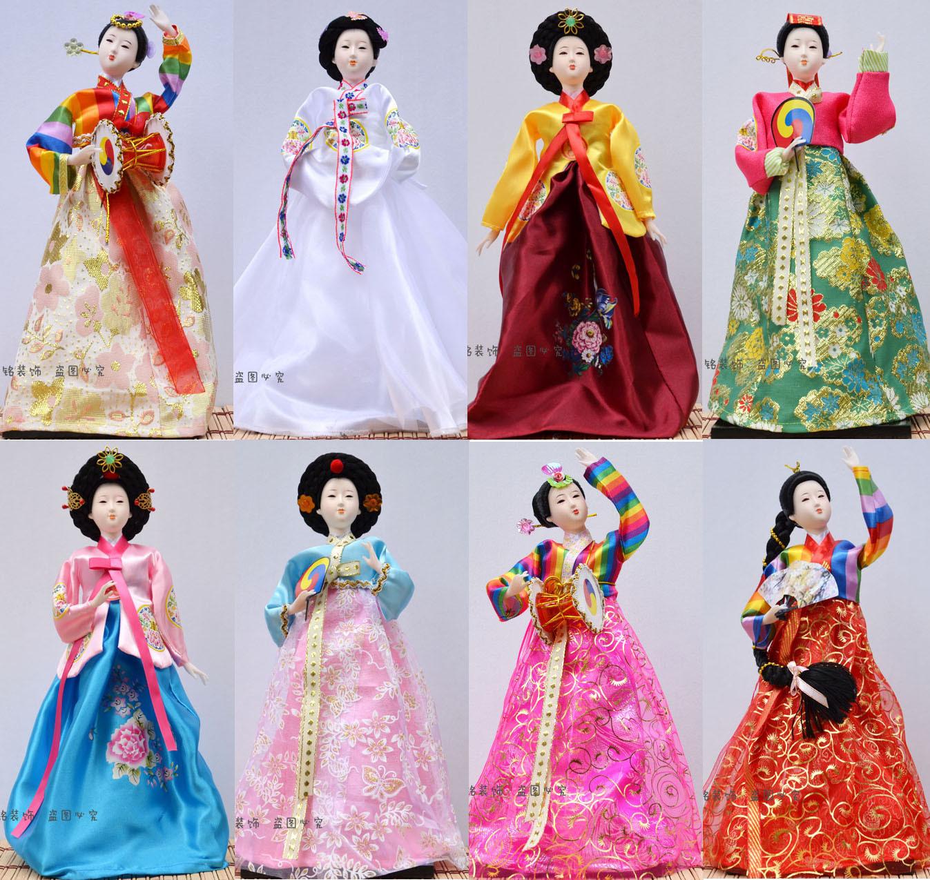 韩国民俗民间工艺品人偶娃娃朝鲜韩服女孩家居装饰礼品酒店摆件
