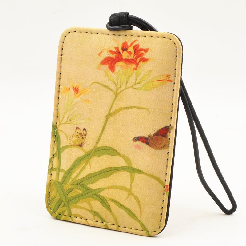 丝绸行李牌登机牌旅行箱托运牌中国风行李箱吊牌创意标签挂牌