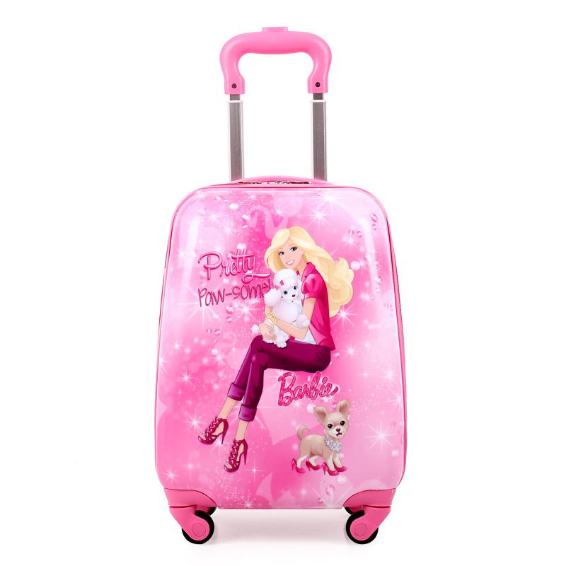 维尼熊儿童拉杆箱包旅行箱18寸方形万向轮16寸蛋壳男女行李箱