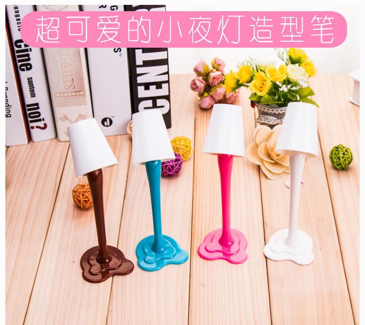 b30 创意台灯两用圆珠笔 可爱小夜灯造型塑料趣味学生用笔【创意文具D仓满29包邮】