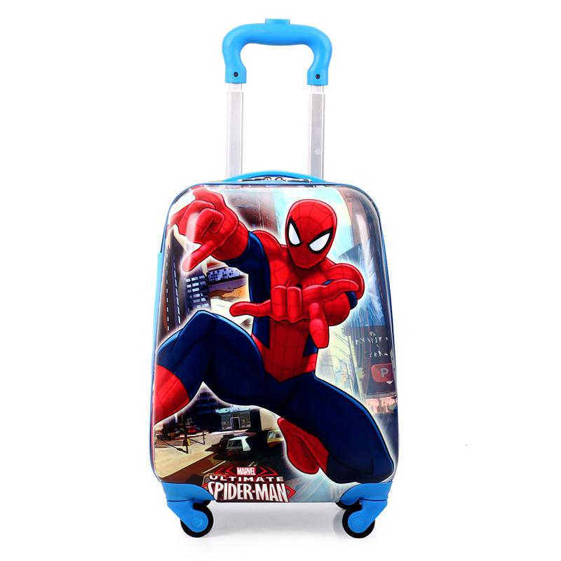 正品儿童拉杆箱可爱卡通万向轮18寸 3d蜘蛛侠行李箱男女学生特价