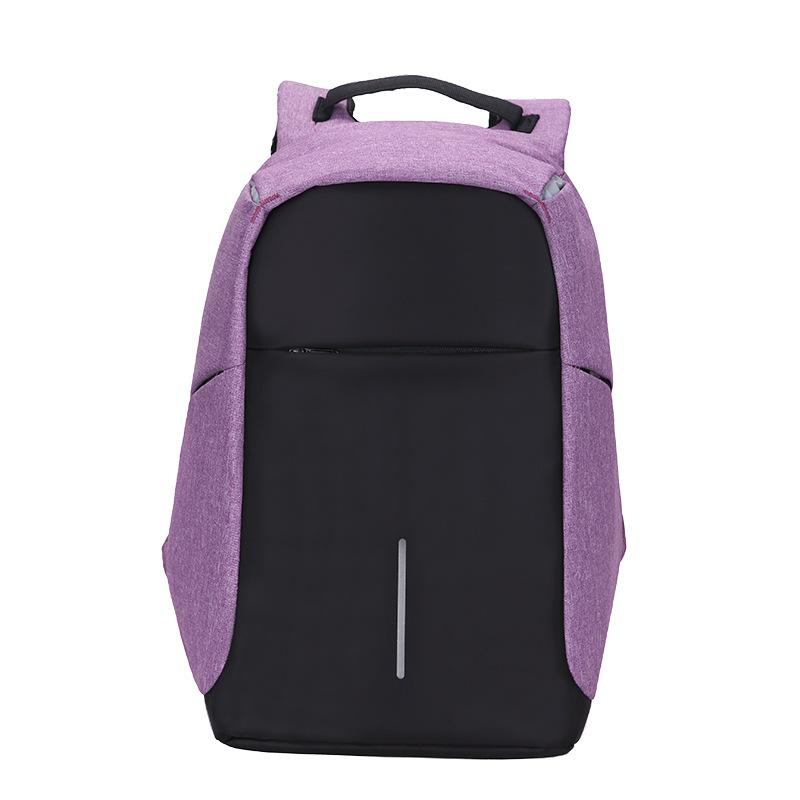 简约撞色时尚双肩包多功能防盗休闲双肩包大容量可可定做