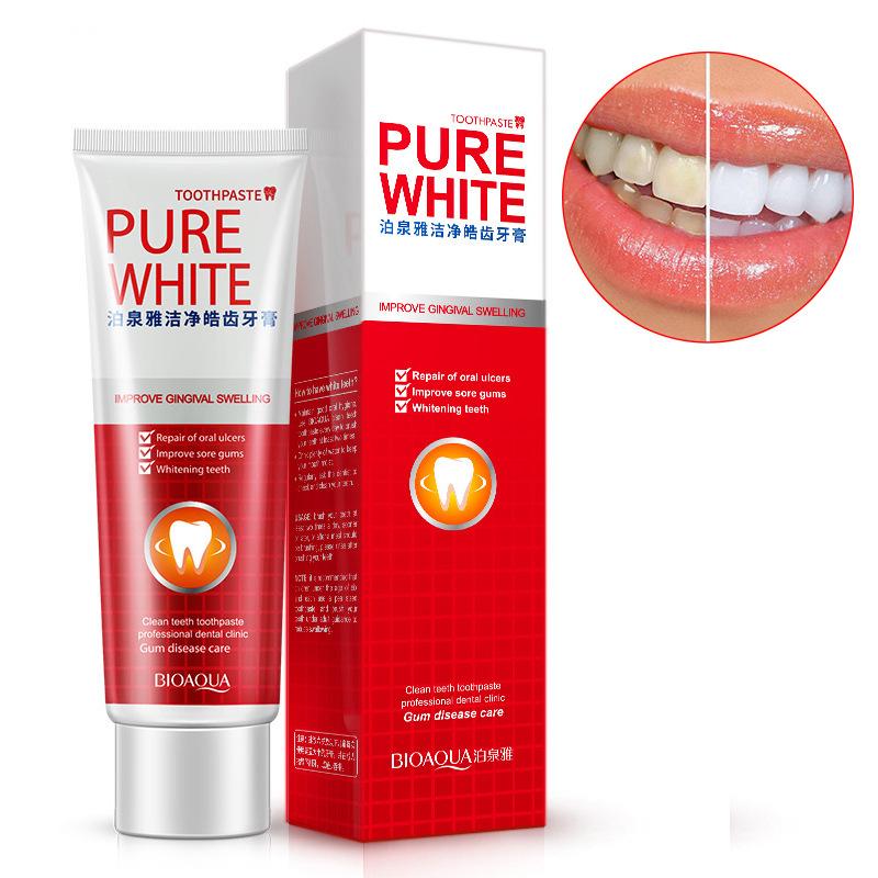 泊泉雅净白健齿 牙膏蔓越莓薄荷护牙膏 口腔去牙渍 清洁护理直销【满18元包邮】