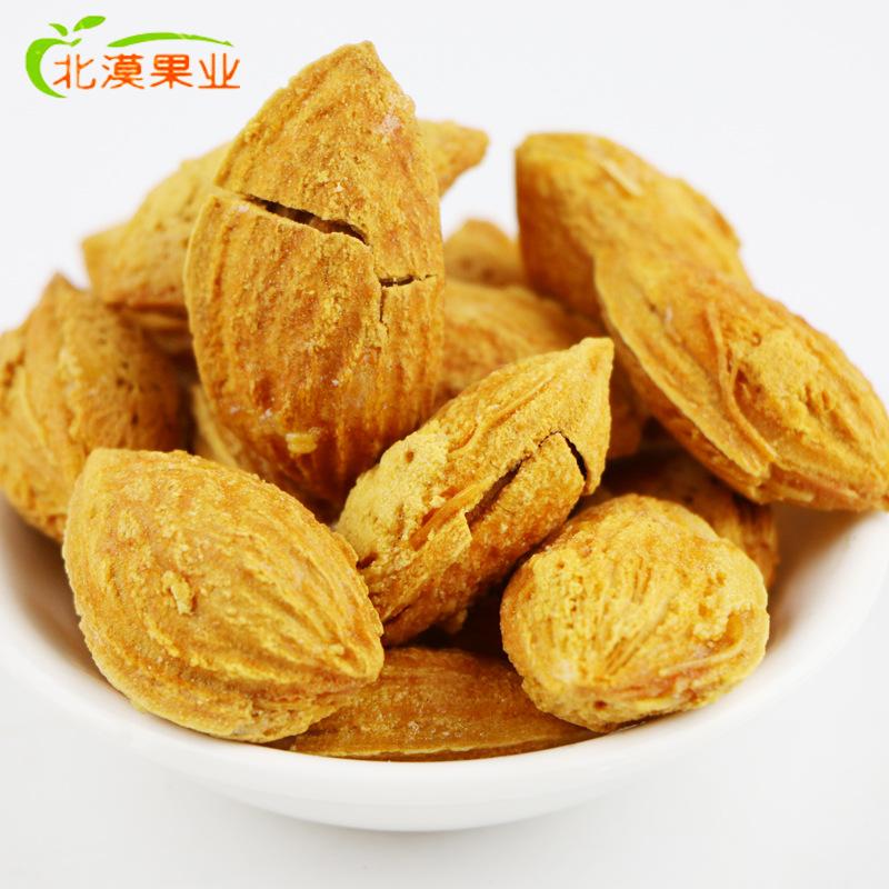 新疆特产薄皮椒盐巴旦木 新货半开口 盐焗大龙果坚果 500g