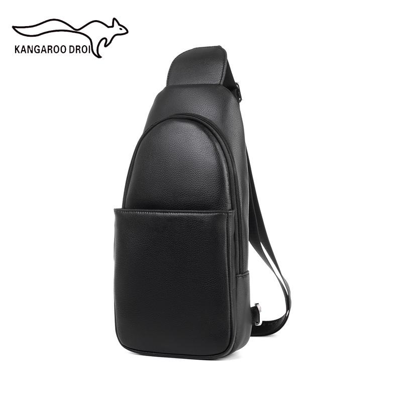 新款缔澳袋鼠男士胸包时尚休闲单肩斜跨包终身售后
